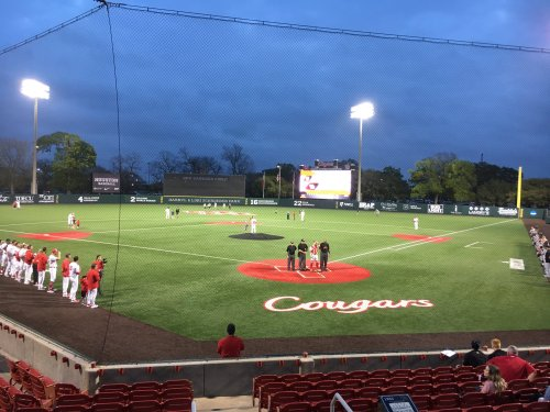 Friday night baseball vs. Army at Schroeder Park. Photo by @5_Coogs via Twitter.