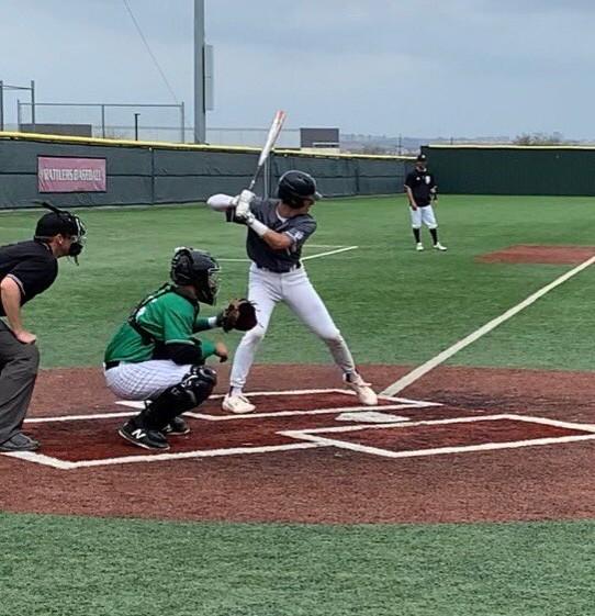 Evan Maldonado bats for Sharyland Pioneer